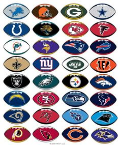 NFL Prismatic Football Stickers - Football fans will love these great team logo stickers! All 32 teams are represented. - Quantity: 300 sheets of stickers - Stickers pre-packed in ready-to-vend cardbo All Nfl Teams, Football Team Logos, Football Stickers, Football Boys, Football Memes, Football Season, Football Awards, Football Shirts, Football Stuff