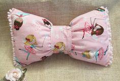 Bow PillowDecorative PillowPink PillowPolka Dot by VivibellesBows