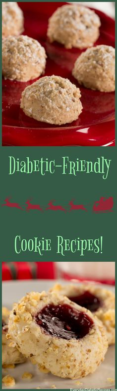 We hope you enjoy these cookie recipes! Diabetic Cookie Recipes, Diabetic Friendly Desserts, Low Sugar Recipes, Sugar Free Desserts, Diabetic Meals, Diabetic Cake, Diet Recipes, Healthy Recipes, Jack Food