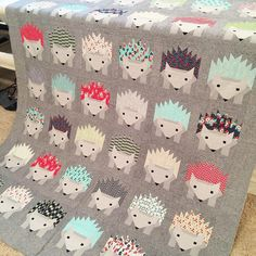 "Leisha Farnsworth on Instagram: ""Up next Meghann's hedgehog quilt, made using daysail fabrics from Bonnie and Camille!!!! #machinequilting #longarmquilting #quiltingit #quilting #gammill #clientquilt #bonnieandcamille #showmethemoda"""
