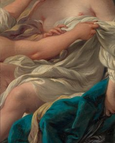 François Boucher, Jupiter, in the Guise of Diana, and Callisto (detail) 1763