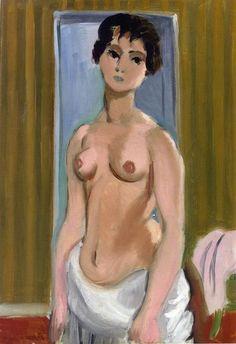 """corpo de um menina"", óleo sobre tela por Henri Matisse (1869-1954, France)"