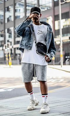 Urban Fashion, Boy Fashion, Mens Fashion, Men Looks, Cool Outfits, Casual Outfits, Jean Jacket Outfits, Streetwear Fashion, Street Wear