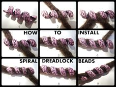 Great pictorial installing spiral dread beads
