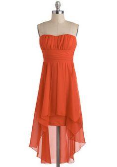 Poppy Champagne Dress from Modcloth Unique Dresses, Cute Dresses, Wedding Dresses Under 500, Orange Bridesmaid Dresses, Poppy Dress, Champagne Dress, Retro Vintage Dresses, Mod Dress, Homecoming Dresses