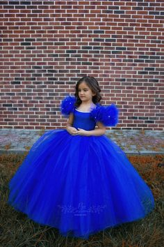 Royal Blue Party Gown for Toddlers and Girls, Royal Blue Birthday Dress for Girls, Rich Fluffy Court Train Blue Flower Girl Tutu Dress Gowns For Girls, Girls Tutu Dresses, Frocks For Girls, Tutus For Girls, Girls Party Dress, Little Girl Dresses, Baby Dress, Princess Tutu Dresses, Flower Girl Tutu