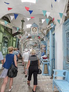 One of the streets in Tunis , capitol of Tunisia .Africa. Historic place in Tunis in Medina .