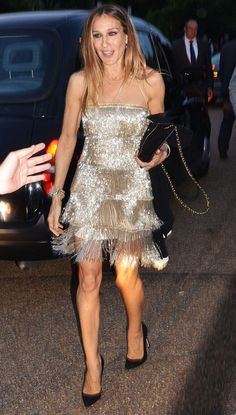Sarah Jessica Parker Channels 'The Great Gatsby' in fringed Naeem Khan flapper dress