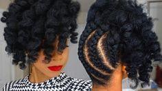 Pineapple Updo on Kinky Natural Hair [Video] - https://blackhairinformation.com/video-gallery/pineapple-updo-kinky-natural-hair-video/