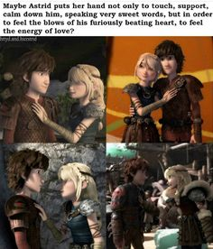 Aaaaaww >>> I couldn't agree more < Yep! :) --> me likey << 😋😋 Httyd, How To Train Dragon, How To Train Your, Dreamworks Animation, Disney And Dreamworks, Le Couple Parfait, Dragon Memes, Hiccup And Astrid, Dragon Rider