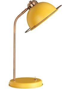 Bauhaus Ochre Table Lamp