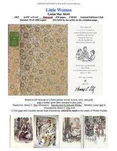 Little Women - Limited Editions Club Louisa May Alcott, Photo Wall, Club, Artist, Prints, Books, Beautiful, Women, Photograph