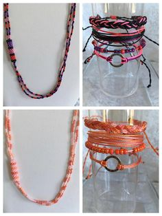 Beautiful Jewelry: Cord bracelets and seed beads necklaces from my Etsy shop
