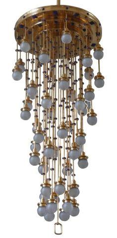 """Chandelier for the """"Steinhof Church"""" Otto Wagner Antique Lamps, Antique Lighting, Home Lighting, Lighting Design, Lamp Light, Light Up, Belle Epoque, Otto Wagner, Art Deco"""
