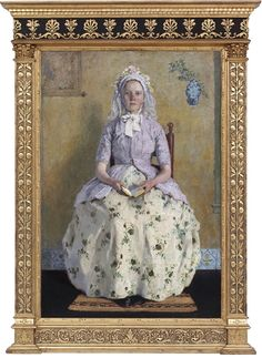 """Given the debate over what will happen to the collection at the DIA, I thought it only right to pin some favorites... starting with """"The Communicant"""" by Gary Melchers, ca. 1900.  That look of unwavering faith -- reassuring or deluded?"""