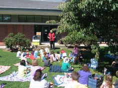 Malik Haddadi provided a comedy and magic show for kids outside the library on August 14, 2013.
