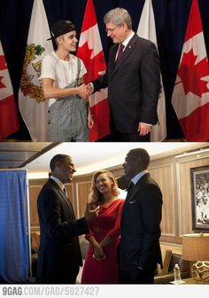 How two artists meeting their respective country leaders dress.