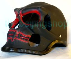 Red Teeth Ghost Skull Skeleton Full Face Motorcycle Helmet Full Face Motorcycle Helmets, Bicycle Helmet, Skeleton, Teeth, Ghosts, Face, Red, Cycling Helmet, Skeletons