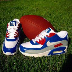 Hey, I found this really awesome Etsy listing at https://www.etsy.com/listing/259607402/custom-new-york-giants-air-max-90