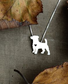 Jack Russell Terrier necklace sterling silver by justplainsimple, $40.00
