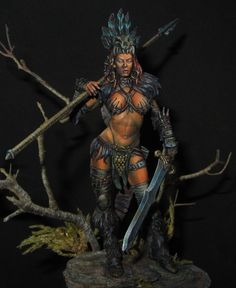 75mm figure Black Sun Painted by Aythami Alonso Torrent  Step by Step Video-Tutorial  For Sale