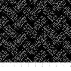 Fabric... Star Wars The Force Awakens Logo on Black for Camelot Fabrics