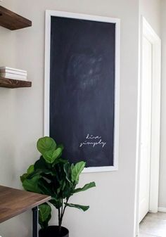Easy DIY Chalkboard For Less Than $12 | ahouseandadog.com