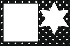 Black with White Polka Dots: Free Printable Invitations for Wedding.