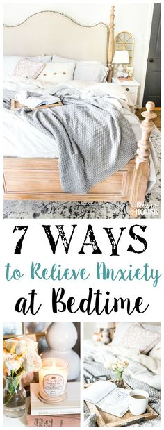 Tips for relieving stress and anxiety with bedtime rituals, decorating advice, and favorite products that work to help you unwind each day. Anxiety Panic Attacks, How To Treat Anxiety, Anxiety Tips, Anxiety Relief, Stress And Anxiety, Stress Relief, Mirrors