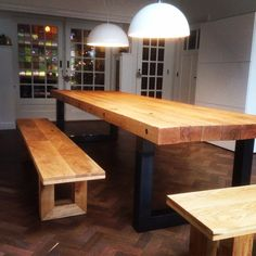 #oak table model Industrial 3.6 by OakZo