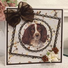 Book And Frame, Tattered Lace Cards, Dog Cards, Animal Cards, Little Books, Lace Design, Cardmaking, Card Ideas, Pup