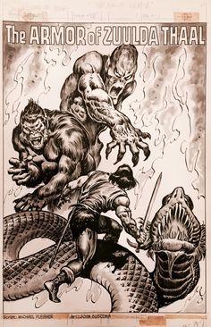 Savage Sword of Conan 87 - Title Splash Comic Art Comic Book Pages, Comic Books Art, Comic Art, Bambi And Thumper, John Romita Jr, Conan Comics, John Buscema, Splash Page, Art Archive