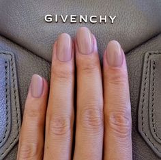 Taupe nails  #givenchy #neutral #taupe #natural #healthynails #manoircoquetterie