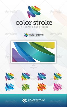 Color Stroke Logo Template Vector EPS, AI Illustrator. Download here: https://graphicriver.net/item/color-stroke-logo/7549688?ref=ksioks