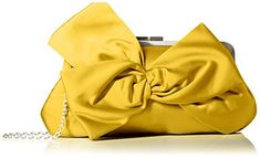 Women's Clutch Handbags - La Regale Fabric W Large Flower Clutch Yellow One Size -- To view further for this item, visit the image link.