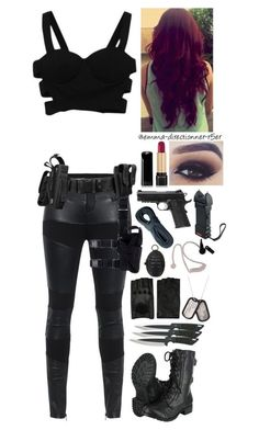 A fashion look from September 2015 featuring TIGHA pants, Soda boots and AGNELLE gloves. Browse and shop related looks. Mafia Outfit, Spy Outfit, Badass Outfit, Bad Girl Outfits, Teenager Outfits, Teen Fashion Outfits, Fashion Women, Women's Fashion, Fandom Outfits