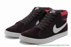 free shipping e32f7 d8f74 meilleures chaussures de running Hommes Nike Blazer New III 80568-005  High-top Anti-fur Rouge Wine