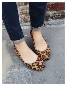 Square Toe Chic Flat Shoes