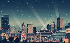 Owen Davey - Manchester Christmas Campaign on Behance