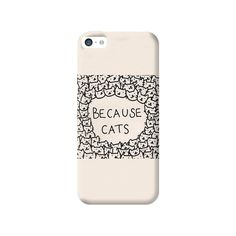 Because Cats Apple iPhone 5C Case from Cyankart