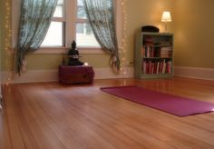 Yoga Space from beauty that moves blog... looks simple and peaceful :)