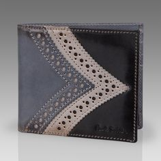 Paul Smith Wallets | Black Brogue Detail Billfold Wallet