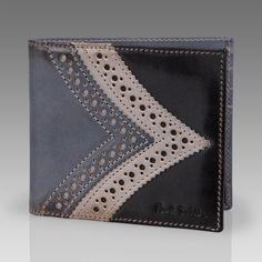 Paul Smith Wallets   Black Brogue Detail Billfold Wallet