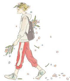 you're a flowerbed~ Kenma Kozume, Kuroken, Iwaoi, Kagehina, Haikyuu Volleyball, Volleyball Anime, Anime Guys, Manga Anime, Anime Art
