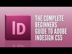 ▶ Adobe Indesign For Beginners - Tutorial Course Overview & Breakdown - YouTube Absolutely amazing 14 video course for all InDesign Versions (CS1-5). See the PDF Worksheets at: www.tastytuts.com/emailer/indesign_beginners/pdf/indesign_for_beginners_tastytuts.pdf .
