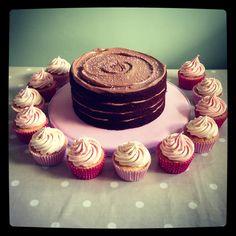 Chocolate cake #cupcakes little girl birthday cake