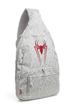 Spider-Man Sling Backpack Tablet Messenger Bag - Padded laptop / tablet sleeve with variable thickness