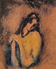 A Dreamer by Elvi Maarni, Mixed media Chalk Art, Figure Painting, Surrealism, The Dreamers, Contemporary Art, Gallery, Drawings, Paintings, Artwork