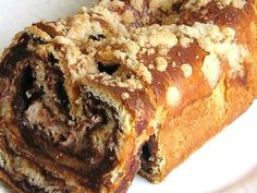 This recipe for Jewish chocolate babka is baked in a loaf pan instead of the swirled tube pan that Poles bake theirs in.