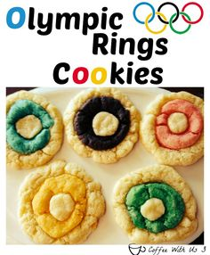 Olympic Rings Cookies - Kick off the Olympic fun with these easy and colorful cookies #sochi2014 #cookies